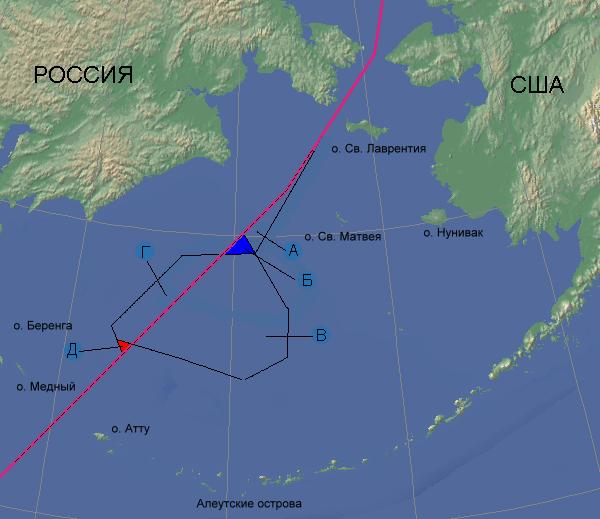 Разграничение морских пространств между СССР (РФ) и США в акватории Берингова моря